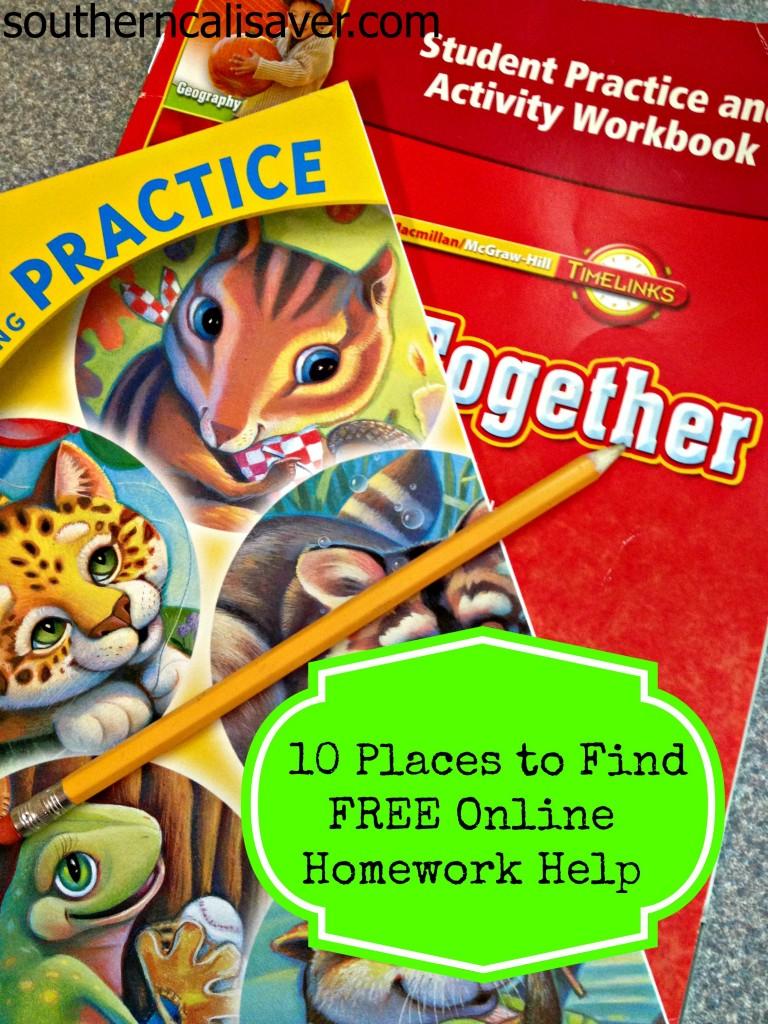 Free Online Homework Help For Kids