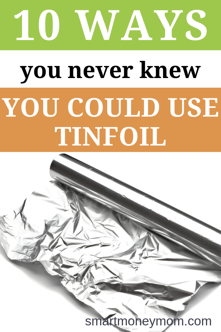 Easy to use and inexpensive to buy, tinfoil is perfect for many other household tricks and hacks. Check out these 10 ways you never knew you could use tinfoil, and see how helpful #tinfoil can really be! #frugalDIY #frugallivingideas #frugallivingtips
