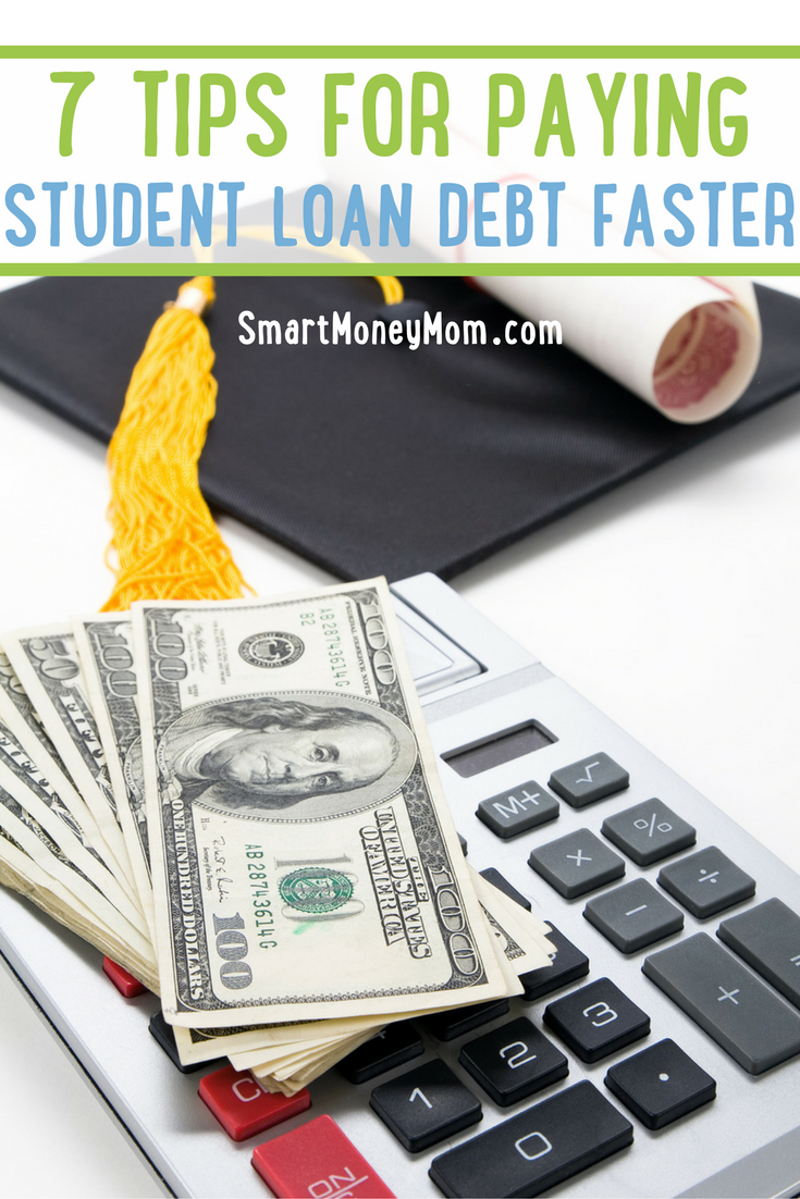 Start paying student loan debt faster with these 7 tips.