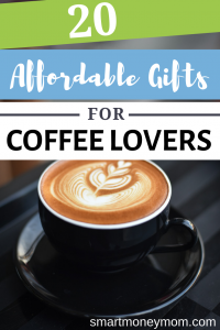20 Affordable Gifts for Coffee Lovers. I have listed the prices but please know that sometimes these change pretty quick-- so the price may not be current when you see this. #giftideas #coffee #coffeelovers