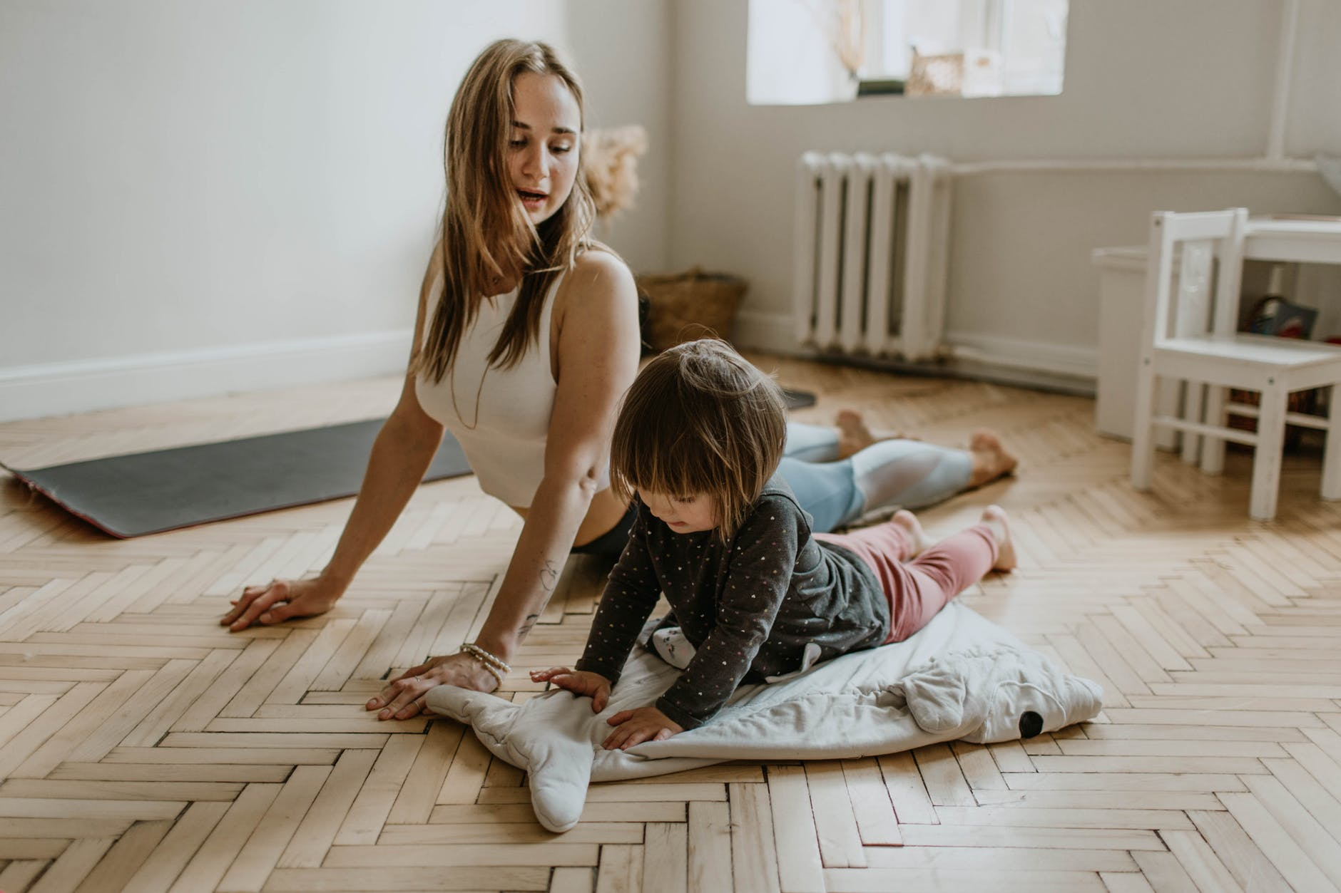 Mom and Baby Workout at Home