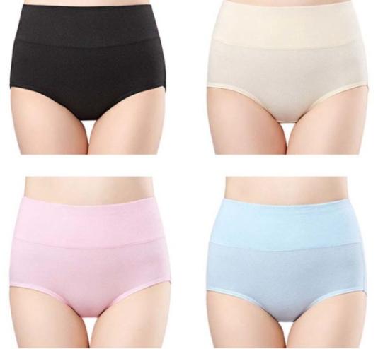 Wirarpa Breathable High Waist Cotton Underwear