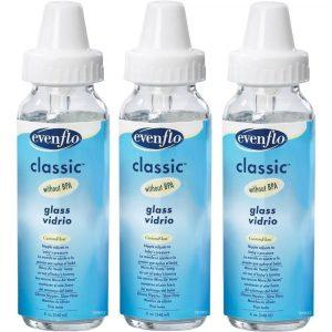 evenflo 3-pack classic glass bottles