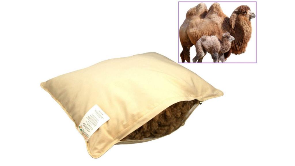 Organic Comfort Market-Camel Wool Sleeping Pillow With Pillowcase